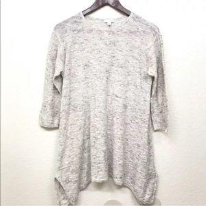 Pure Jill Knit Cotton Linen 3/4 Sleeve Tunic S